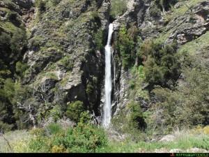 Le Cascate Palmarello sul torrente Aposcipo viste di fronte