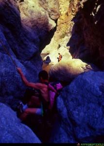 discesa nelle gole del Butramo, foto dell'anno 1998