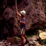 Peppe Trovato sul Butramo foto del 1996