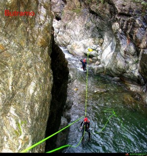 Canyoning sul Butramo, teleferica
