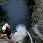 discesa del terzo salto del torrente Aposcipo