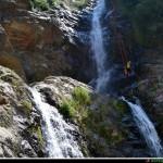 primo salto del torrente Barvi visto da sotto