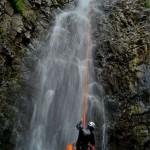 discesa sulla cascata cicutà di 70m aw scende