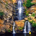 discesa delle cascate Forgiarelle sul torrente Ferraina