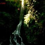 discesa 6 verticale del torrente  San Leo, una vecchia foto del 1998