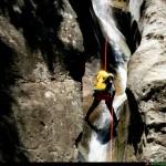 discesa delle cascate Caccamelle sul torrente Nessi