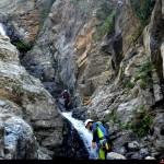 canyon dopo il primo salto sul torrente barvi