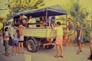 Torrente Butramo, Spedizione per esplorazione con vecchi camion dell'epoca, anno 1996