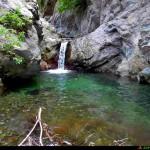pozza dopo il primo salto del torrente Barvi