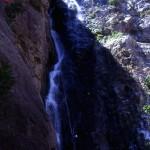 cascata cicutà, alta 70m, torrente ferraina, discesa corda singola
