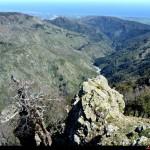 Valle del Butramo vista da Monte Perre sopra il paese di Samo