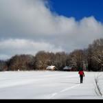 In solitaria sullo sci da fondo in località quarti
