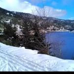 La diga ed il Bacino del lago visti da Ovest