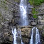 Vista frontale delle cascate Forgiarelle