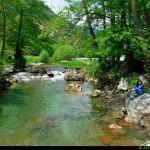 Il torrente Bonamico subito dopo il lago
