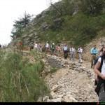 IL sentiero che conduce allo scalone del Ferraina