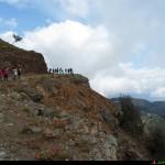 strapiombo sulla valle del Butramo, sterrata prima del sentiero