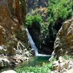 Tour delle cascate S.Trada Cascata Castanò vista all'arrivo