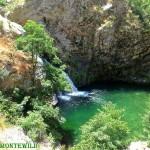 Tour delle cascate S.Trada cascate Castanò viste dal sentiero in alto