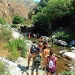 Tour delle cascate S.Trada risalita del torrente Menta Amendolea