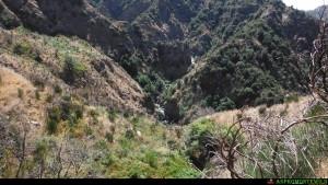 Le cascate Linnha, nella valle dell'Amendolea